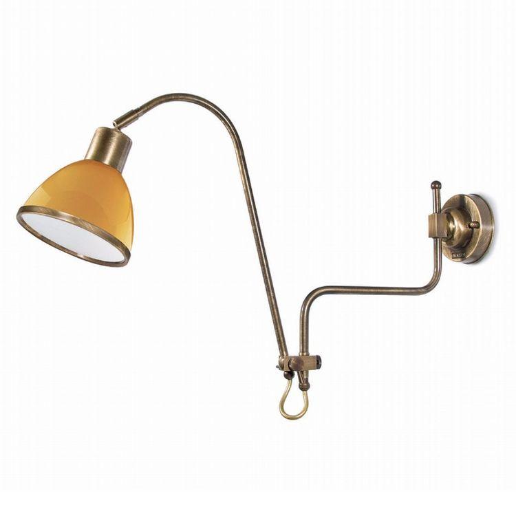 """Finish: Brass burnish (A); Glass: Amber (7); cm.: max. H 38 x max. D 76 / inch.: max. H 15"""" x max. D 30""""; medium"""