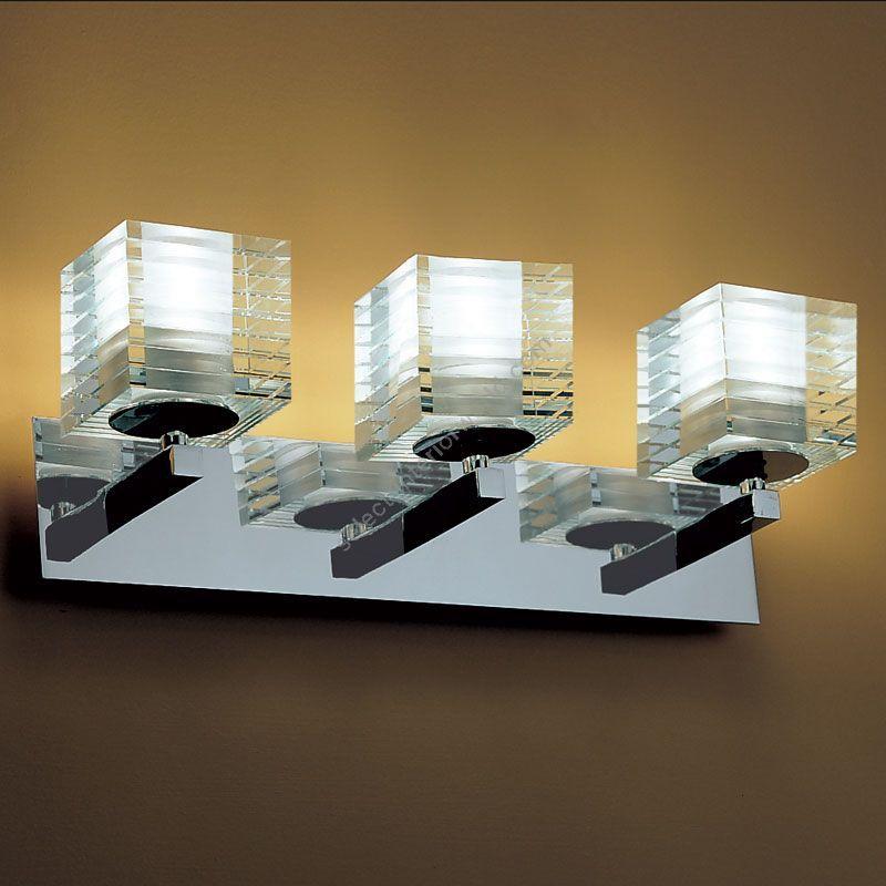 "3 lights (cm.: H 15 x W 40 x D 12 / inch.: H 5.9"" x W 15.7"" x D 4.7"")"