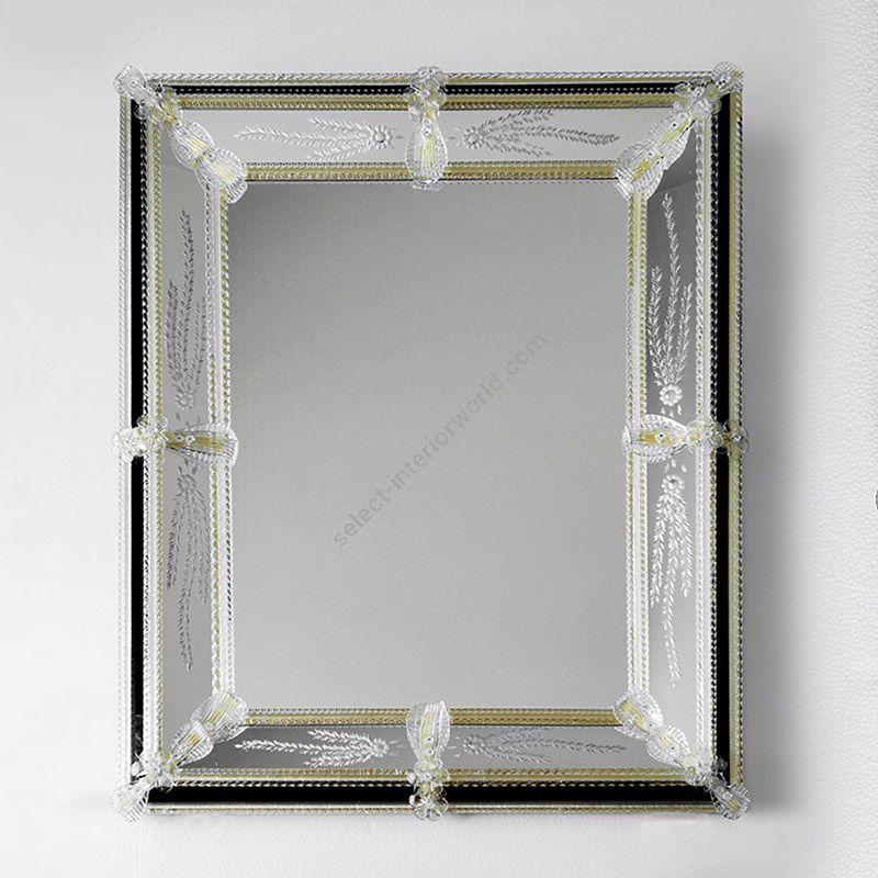 Glass & Glass Murano / Murano wall mirror / ART. MIR 180