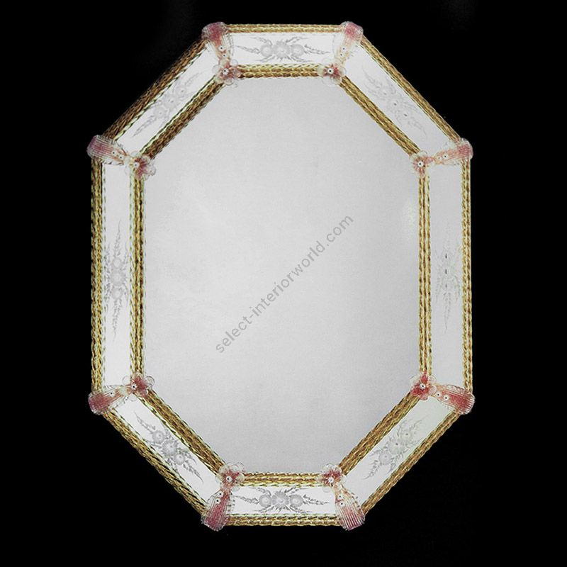 Glass & Glass Murano / Murano wall mirror / ART. MIR 430