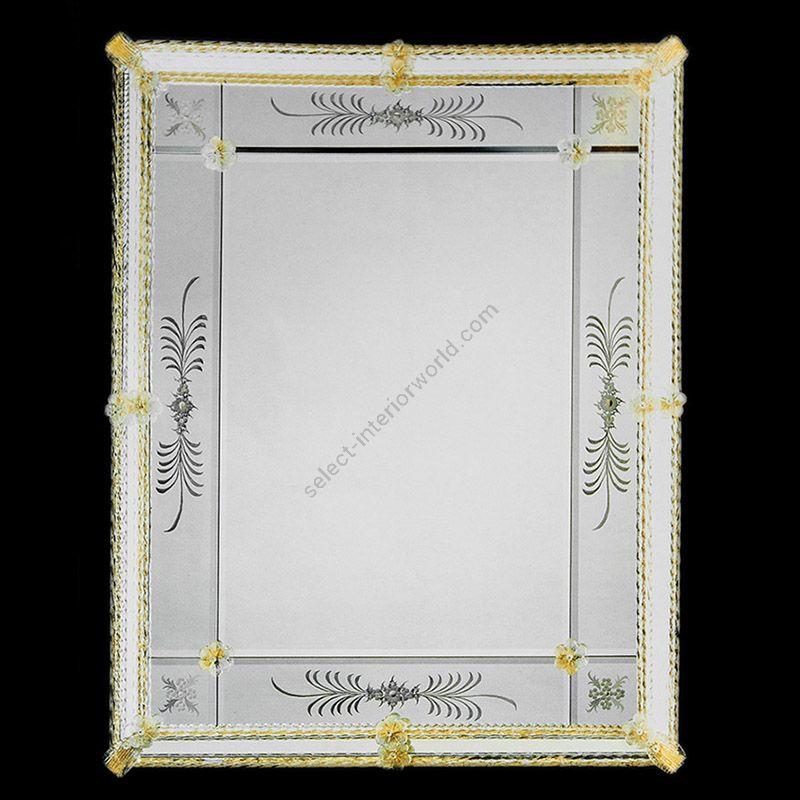 Glass & Glass Murano / Murano wall mirror / ART. MIR 520